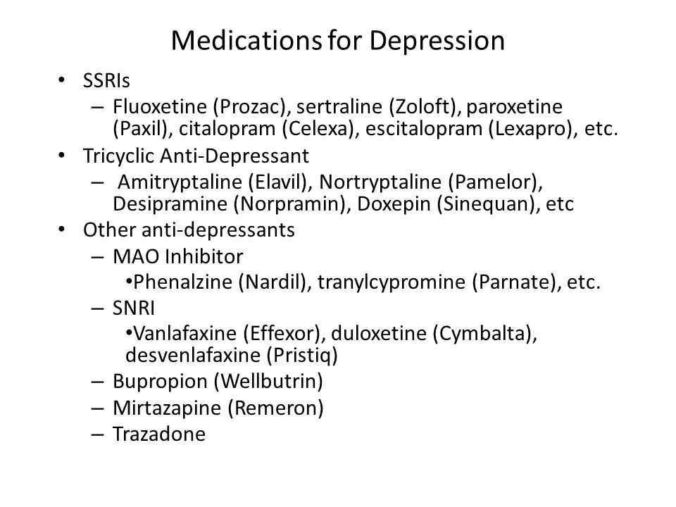 Elavil And Prozac