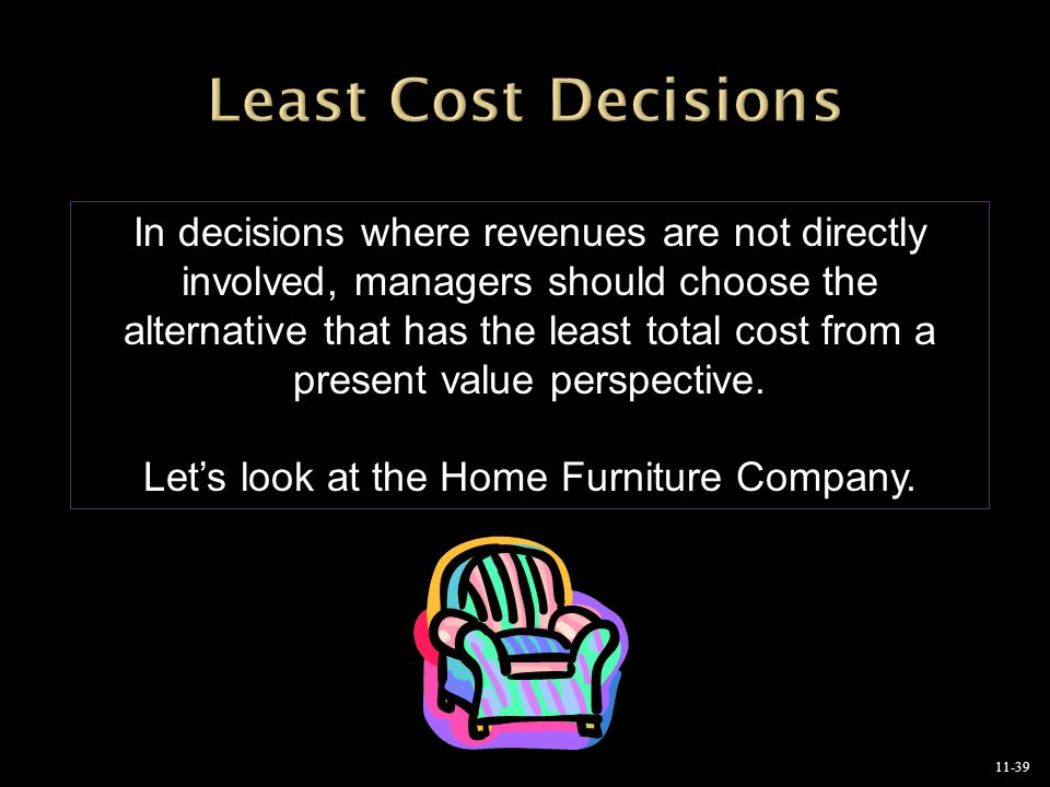 Let s look at the Home Furniture Company. Capital Budgeting Decisions Chapter ppt download
