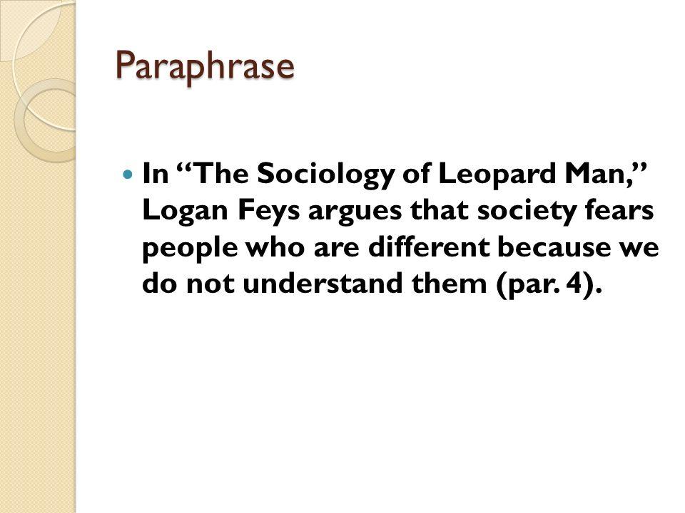 the sociology of leopard man Actualités, mails et recherche ce n'est que le début  à chaque jour sa nouvelle découverte explorez de nouveaux horizons.