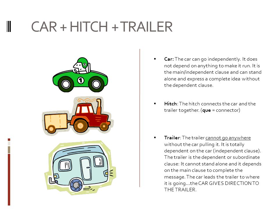 CAR + HITCH + TRAILER