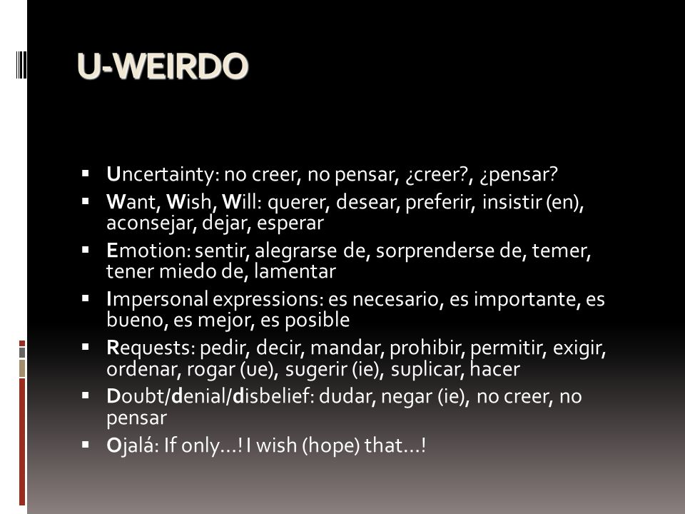 U-WEIRDO Uncertainty: no creer, no pensar, ¿creer , ¿pensar