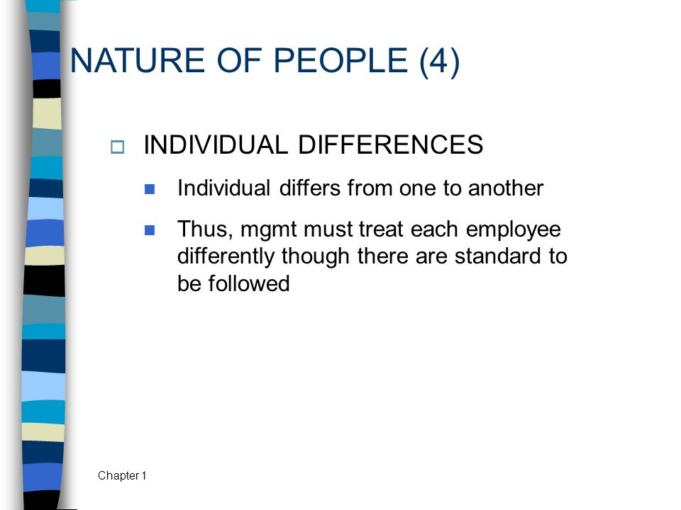 NATURE OF PEOPLE (4) INDIVIDUAL DIFFERENCES