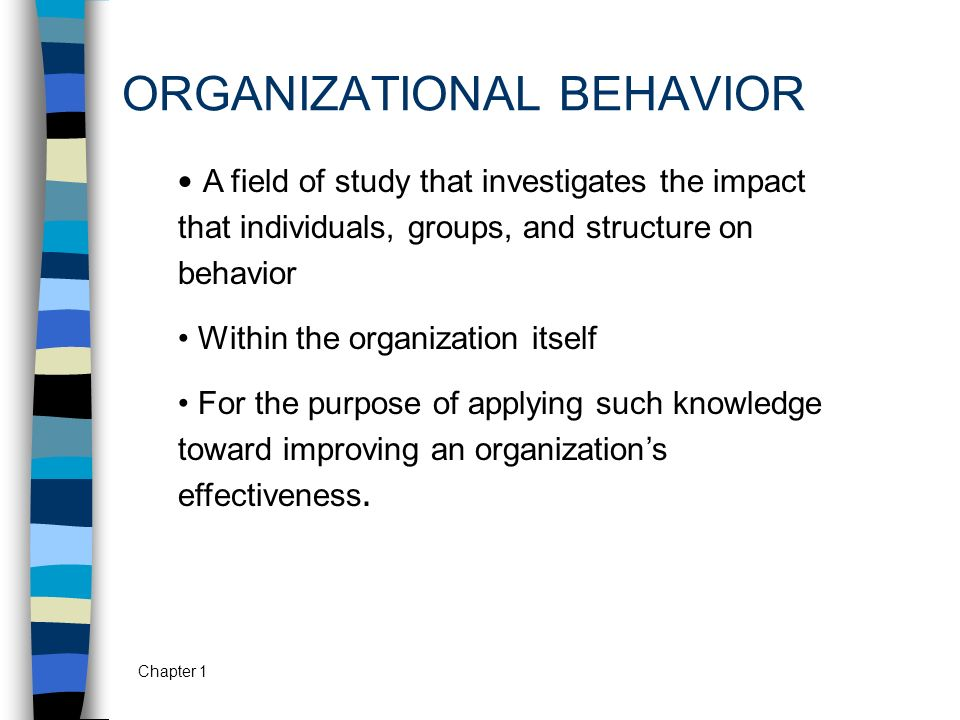 ORGANIZATIONAL BEHAVIOR - ppt video online download