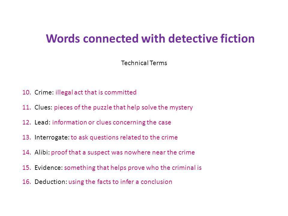 Detective Fiction Ppt Download