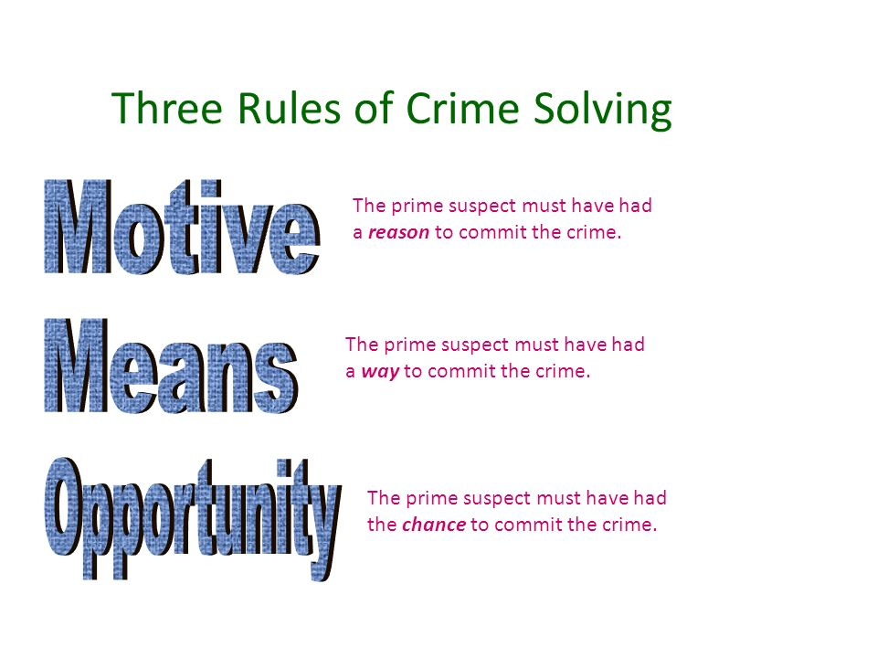 Detective fiction ppt download for Rule of three meaning