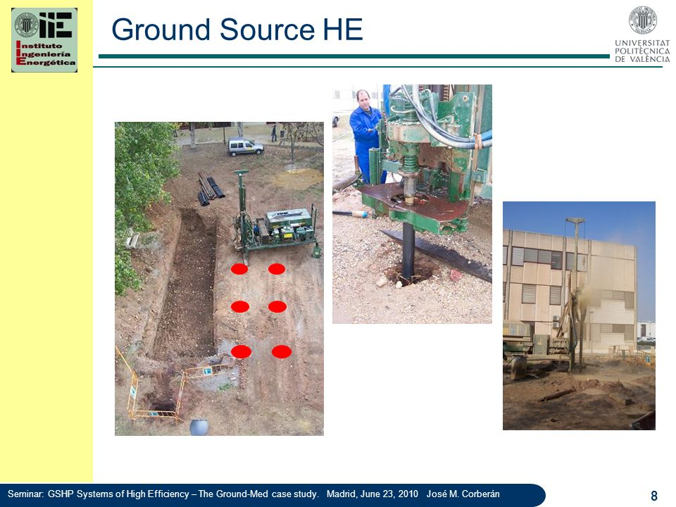 Ground Source HE Seminar: GSHP Systems of High Efficiency – The Ground-Med case study.