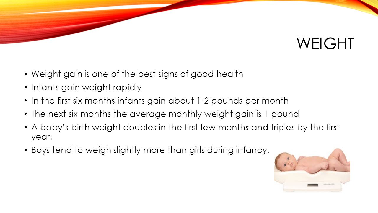 Infant growth and development ppt video online download 12 weight nvjuhfo Choice Image