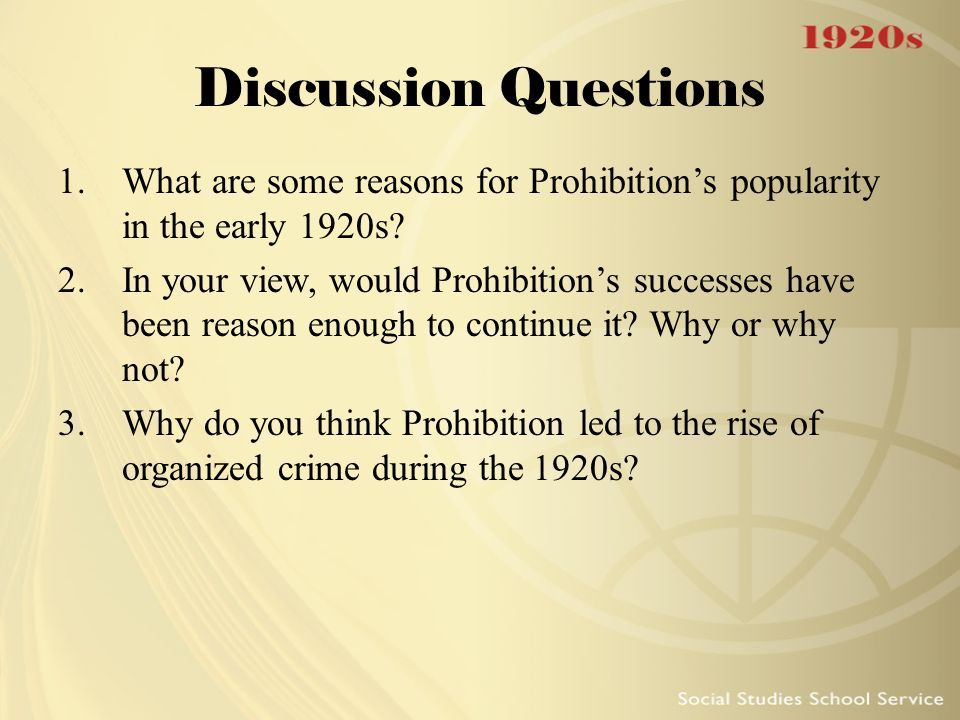 prohibition and the rise of organized crime While crime rates had dropped initially after prohibition was enacted, over the 1920–1933 period, the murder rate actually increased 50% this is commonly traced to the rise of organized crime, and the rise of organized crime was tied directly to prohibition itself so you can say it had some unfortunate.