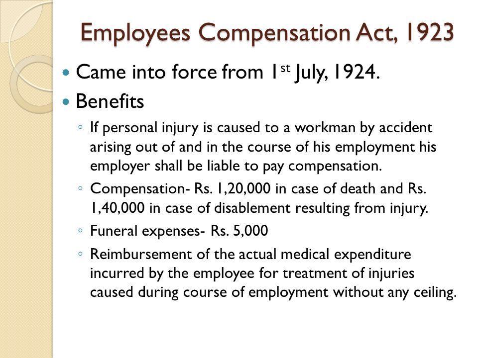 workmens compensation act 1923 Workmen's compensation amendment act 40 of 1990 workmen's compensation amendment proclamation 45 of 1990 [as it applies in the republic].