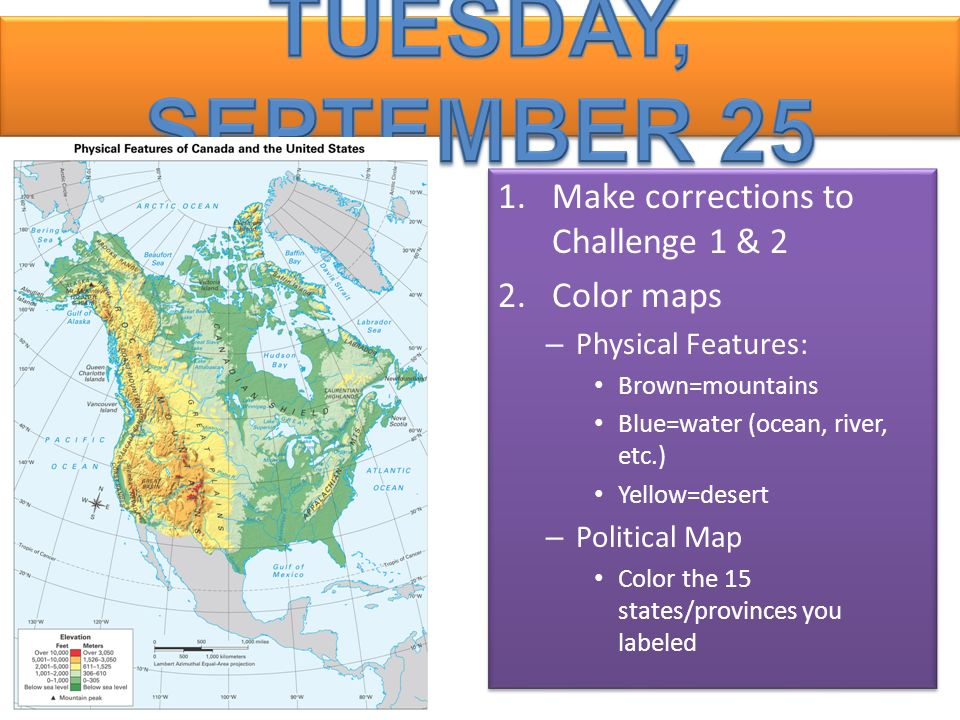 Tuesday September 25 Make Corrections To Challenge 1 2 Color Maps