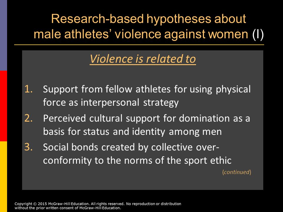 a research on the violence in sports Violence is defined as the use of excessive physical force, which causes or has obvious potential to cause harm or destruction to an individual violence in sports comes in many forms, and divides into social and cultural factors related to the sport ethic, gender ideology, the dynamics of social.
