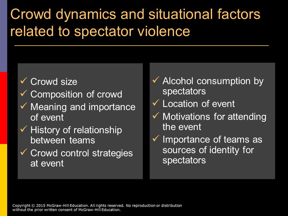 the connection of spectator violence to the commercialization of sports in history The effects of vicarious achievement and team identification when aggressive or nonaggressive sports are primed, by d sport spectator violence.