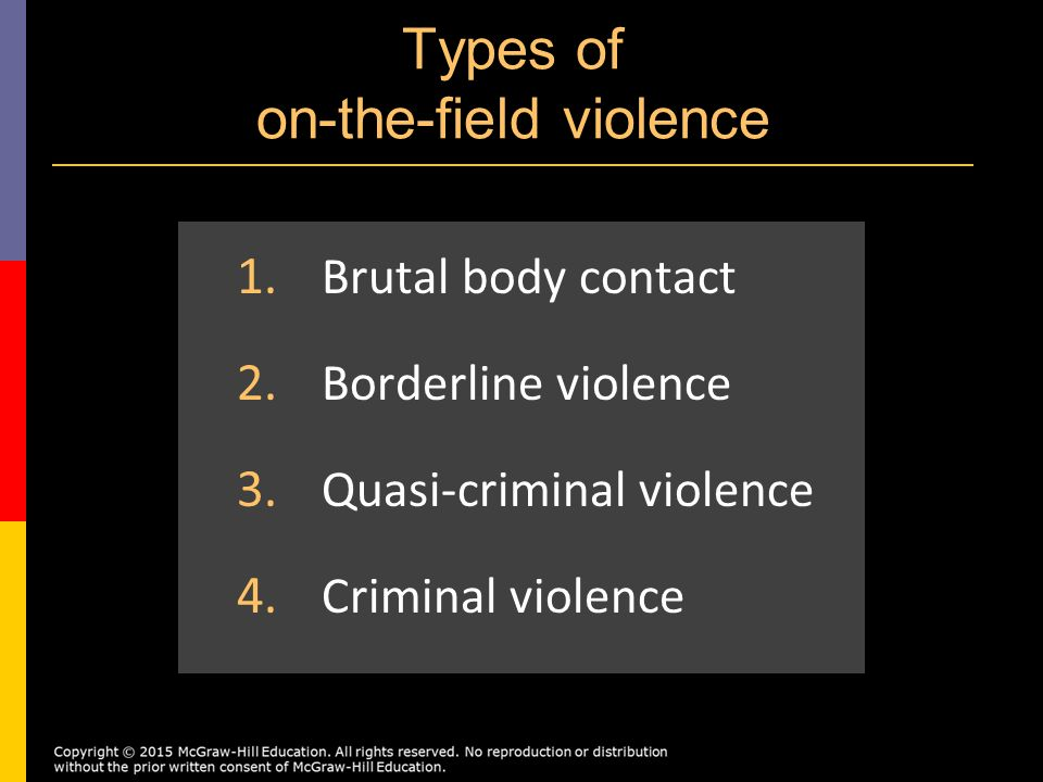 an introduction to the issue of violence in sport Introduction bicycling has done more to  violence against women,  issues goal 6: combat hiv/aids, malaria and other diseases sport can.