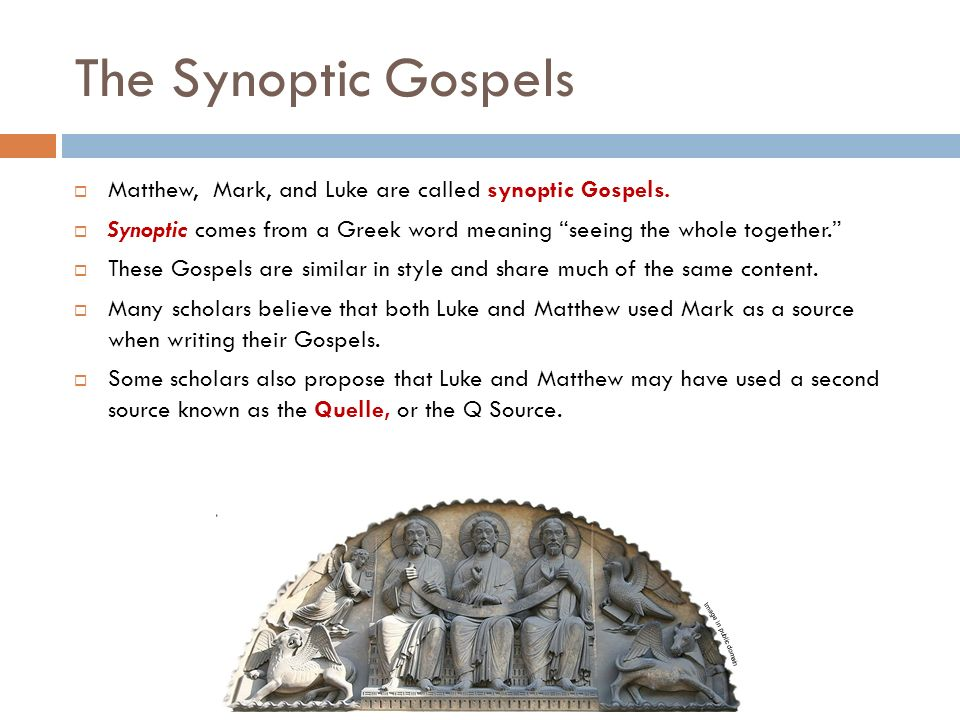synoptic evangelism and the gospel of john essay The gospel of john focuses on jesus himself, with an underlying concept that jesus is the messiah, a total turn from the synoptic tradition found in the previous three gospels of matthew, mark and luke (barrett, 1978.