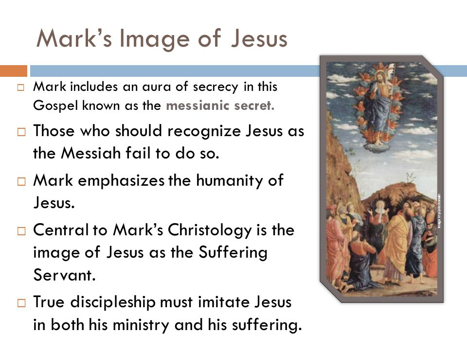 christology in mark s gospel The christology of mark  william wrede destroyed the notion that the gospel of mark was a simple biography in his das messiasgeheimnis  mark's christology,.