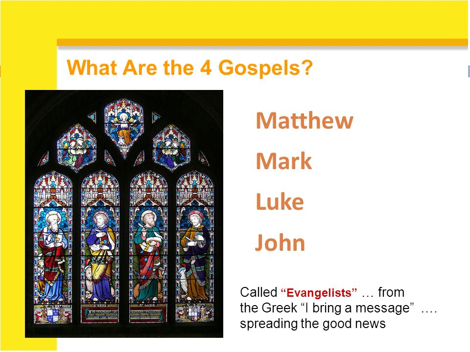 matthew mark luke and john gospels on jesus The gospels of matthew, mark, and luke are referred to as the synoptic gospels because they include many of the same stories,  jesus and others quoted in the gospels spoke primarily in aramaic, but the gospels themselves are each written in greek who performed the translation, and at what point  (matthew, mark, luke, john),.