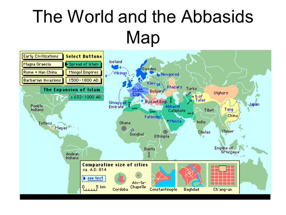 The World and the Abbasids Map