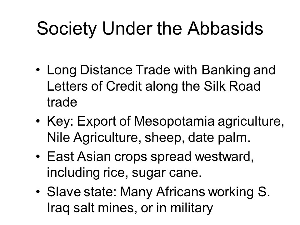 Society Under the Abbasids