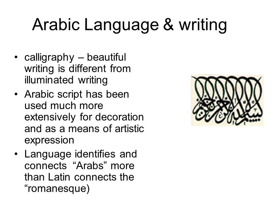Arabic Language & writing