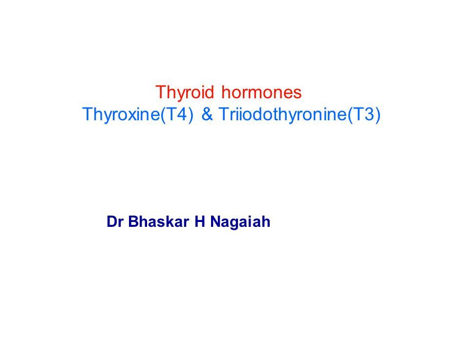 Thyroid Hormones Thyroxine T4 Triiodothyronine T3 Ppt Video
