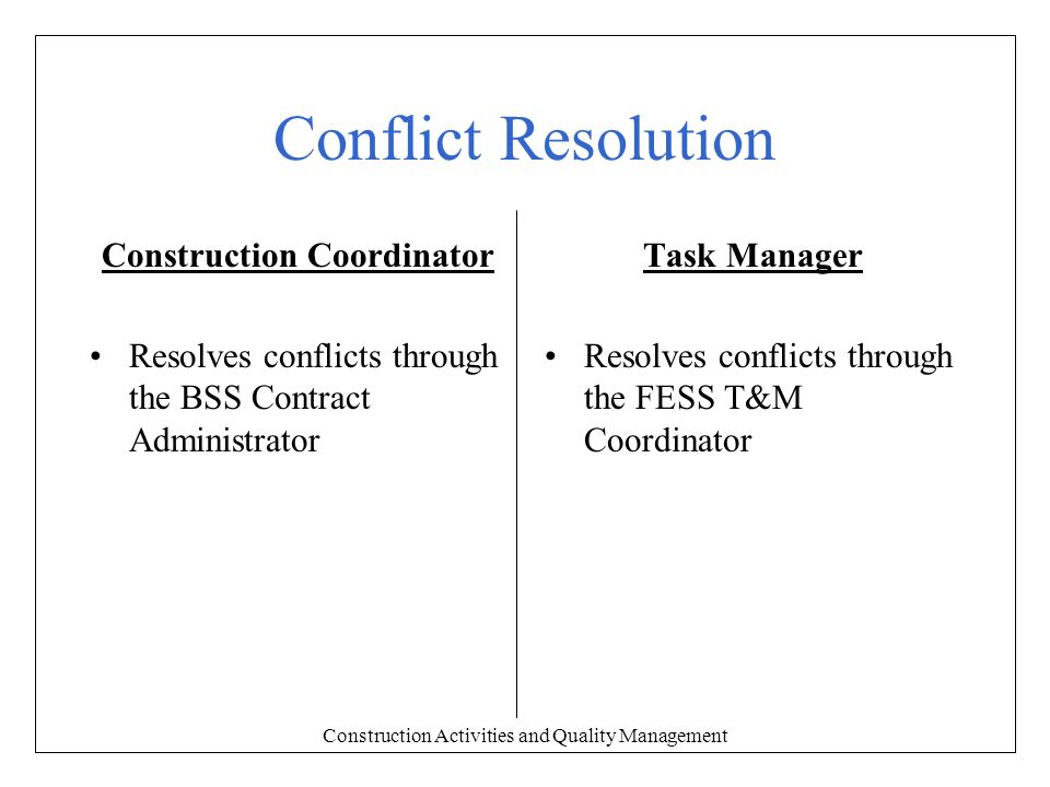 Internal Conflict Quotes >> Construction Activities and Quality Management - ppt download