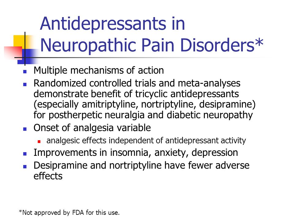 Amitriptyline For Nerve Pain Side Effects