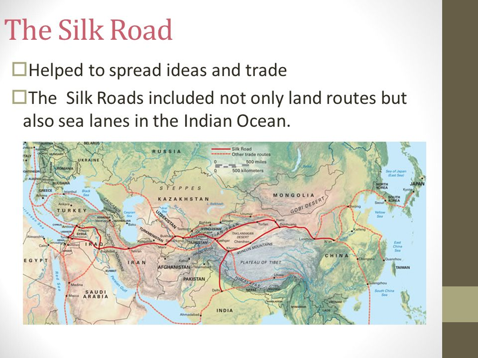 the silk road and sea trade Lesson plan: the silk road with the trade of goods, the silk road allowed for the transfer of and the mediterranean sea • using the silk road map or the.
