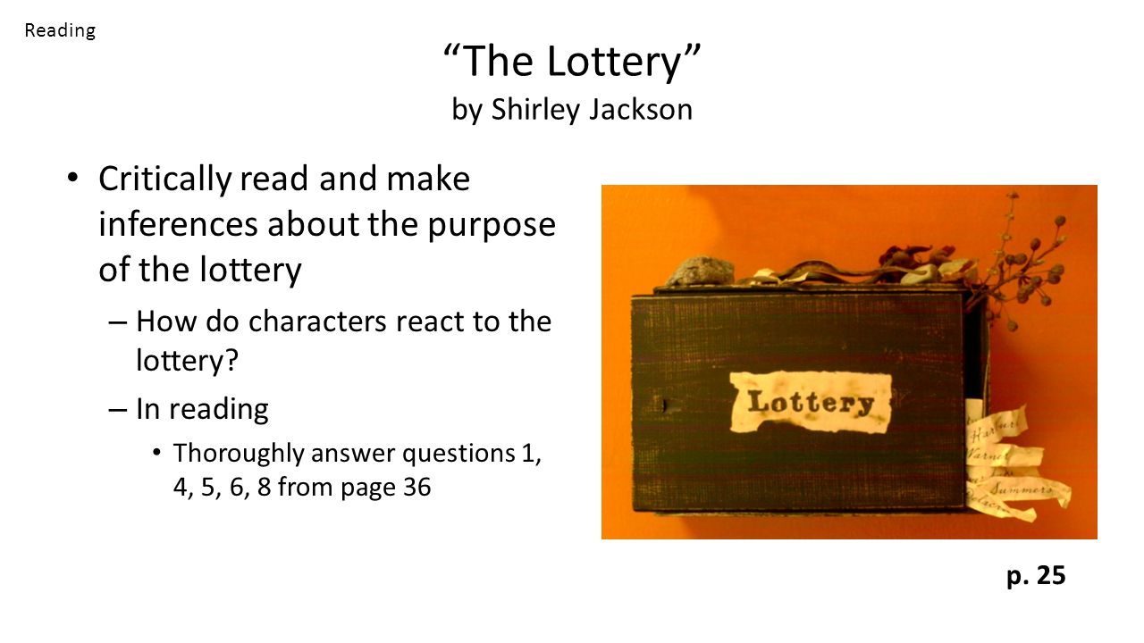 Thesis Of The Lottery By Shirley Jackson Custom Paper Service
