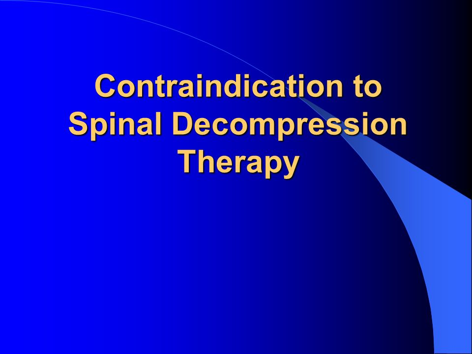 Spinal Decompression Therapy Ppt Download