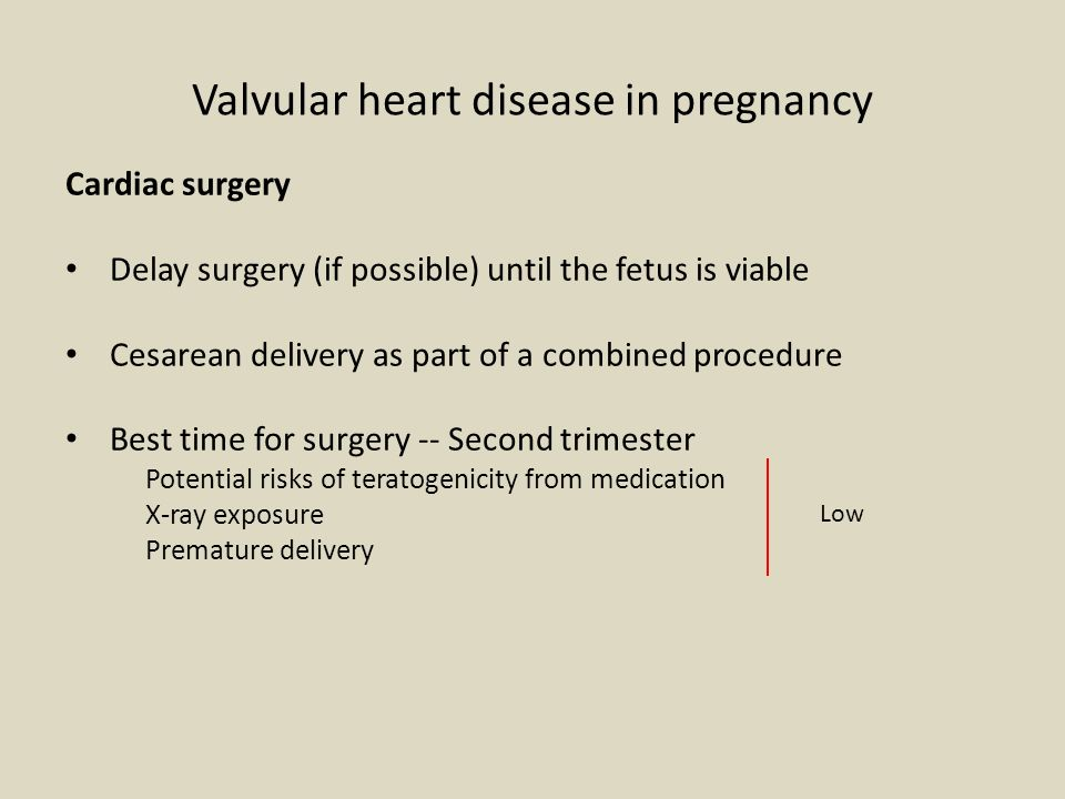 Acquired heart disease and pregnancy