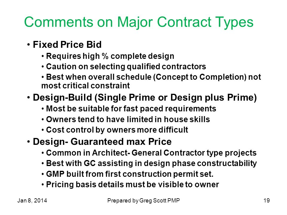 Rapid deployment project management business perspective for Fixed price construction contract