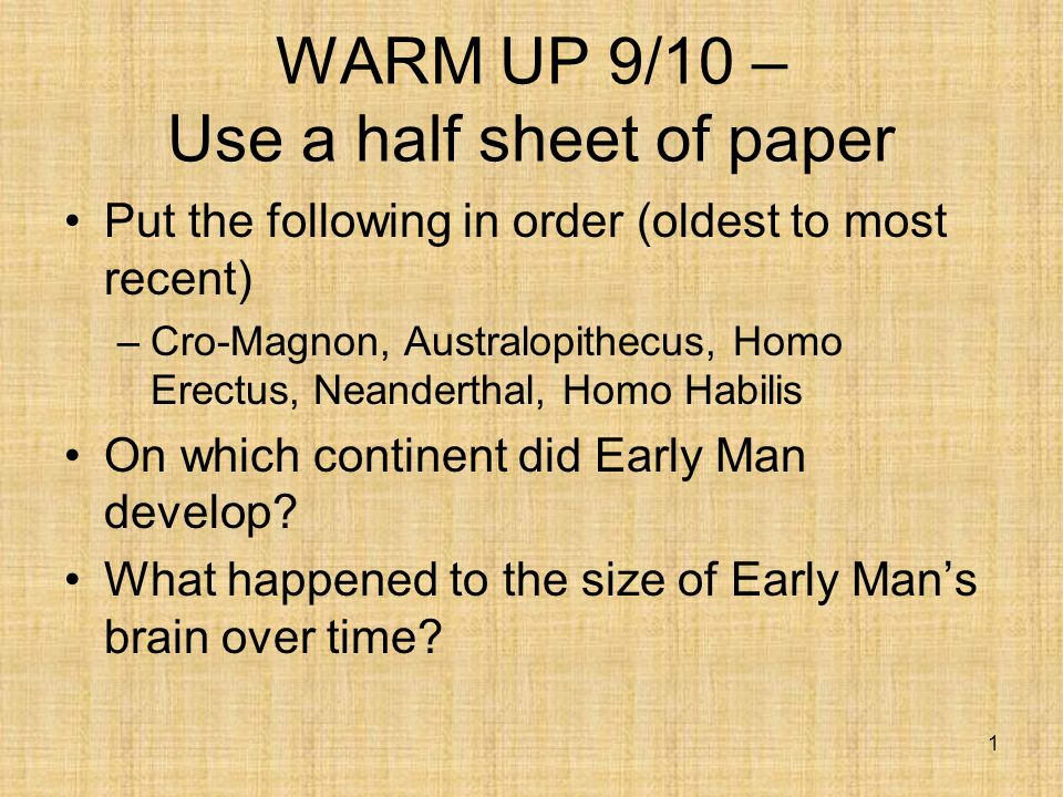 Warm Up 9 10 Use A Half Sheet Of Paper Ppt Video Online Download