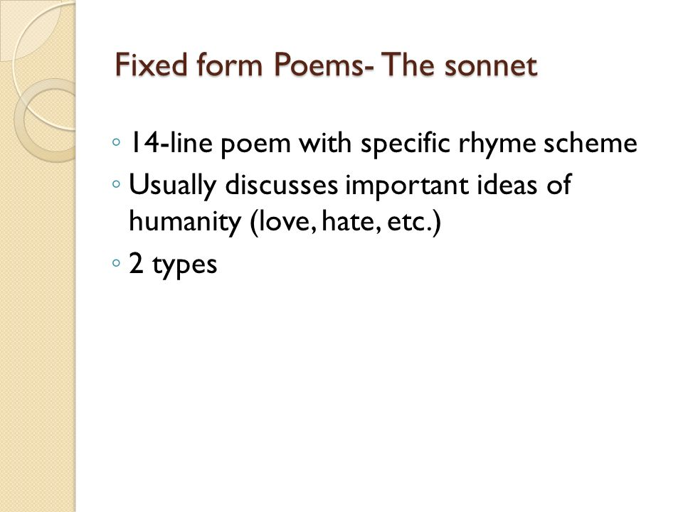 writing a 14 line sonnet