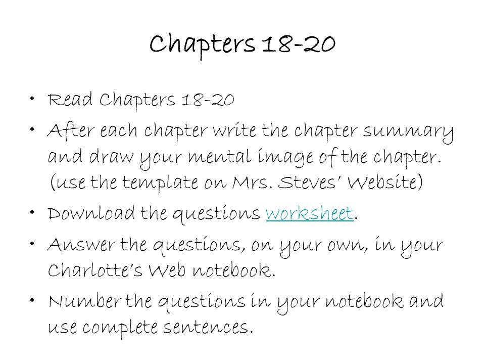 Quiz &amp- Worksheet - Charlotte'-s Web Ch. 12 Synopsis | Study.com