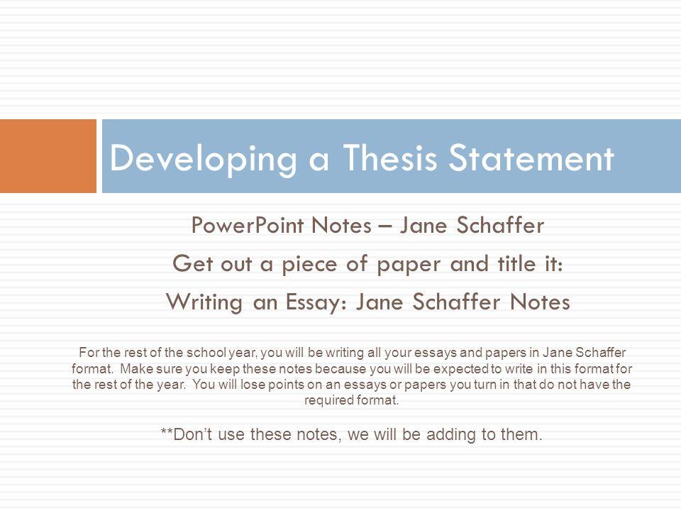 developmental thesis