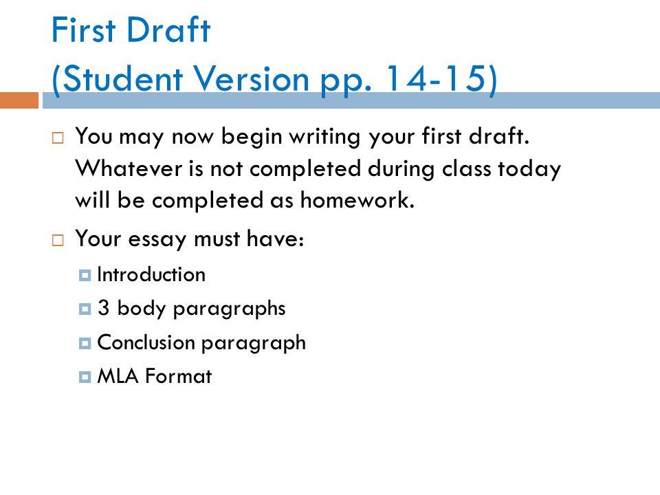 draft will format
