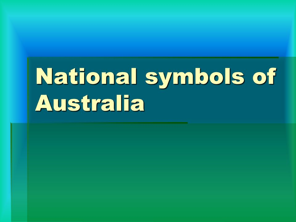 National Symbols Of Australia Ppt Video Online Download