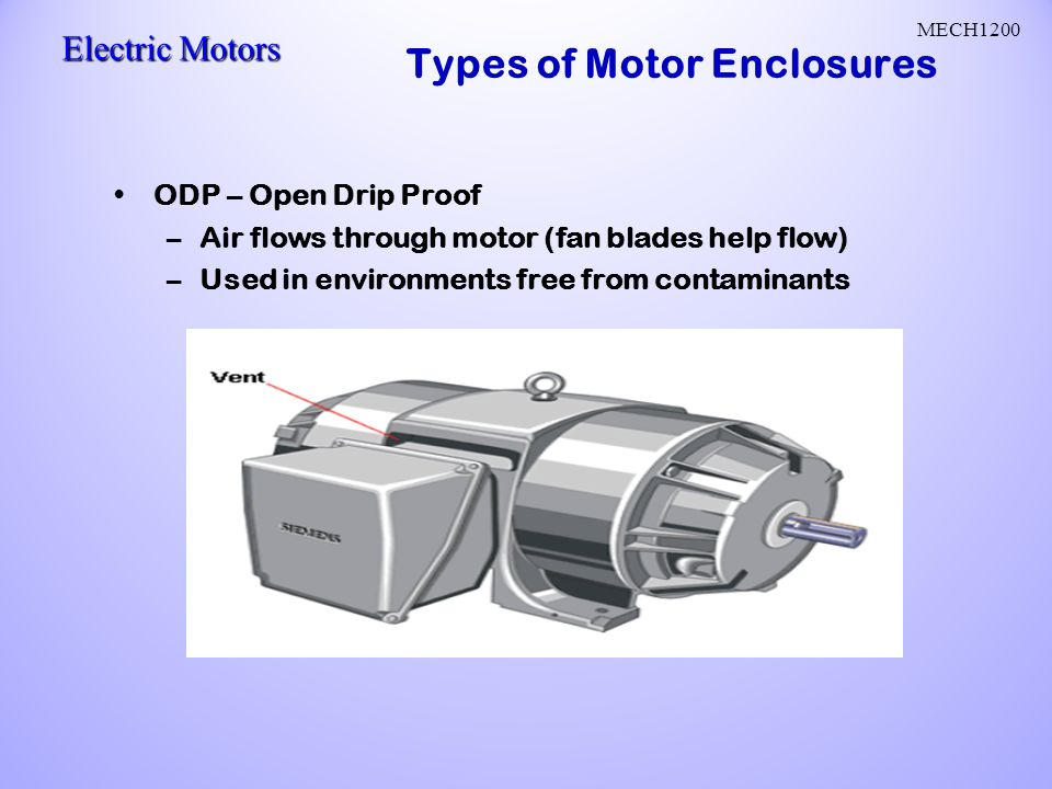 Ac motors ac current reverses direction two parts stator for Electric motor enclosure types
