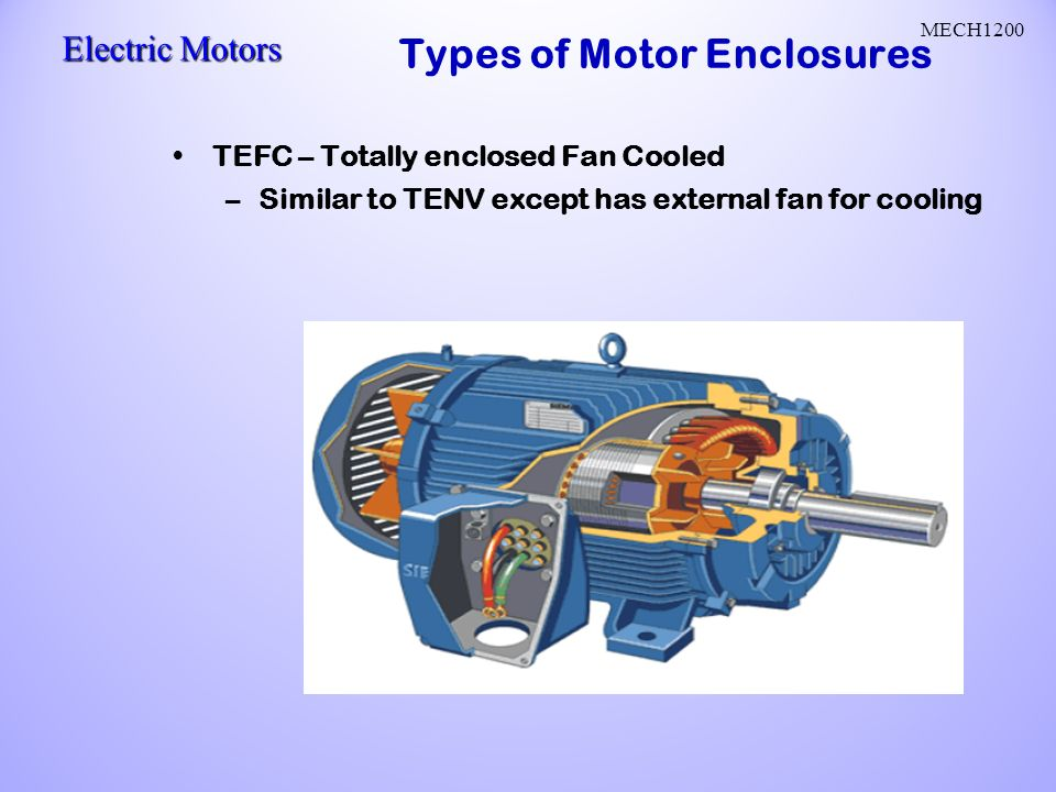Ac motors ac current reverses direction two parts stator for Totally enclosed fan cooled motor