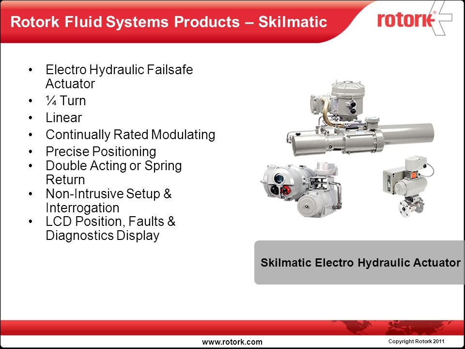 Rotork Fluid Systems Products – Skilmatic