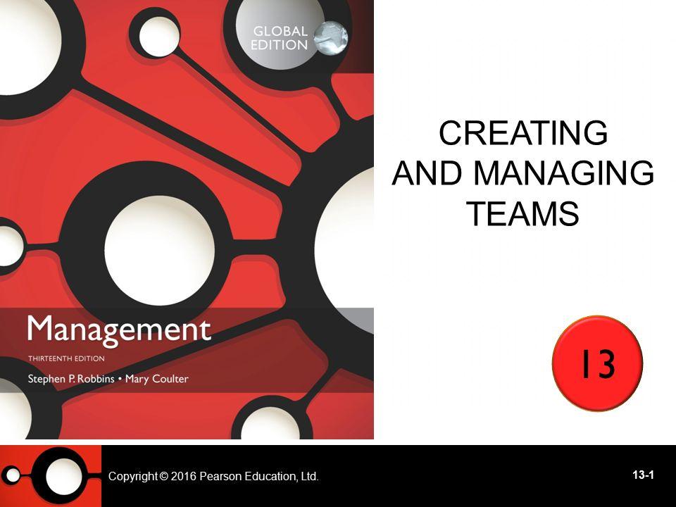 Creating and Managing Teams