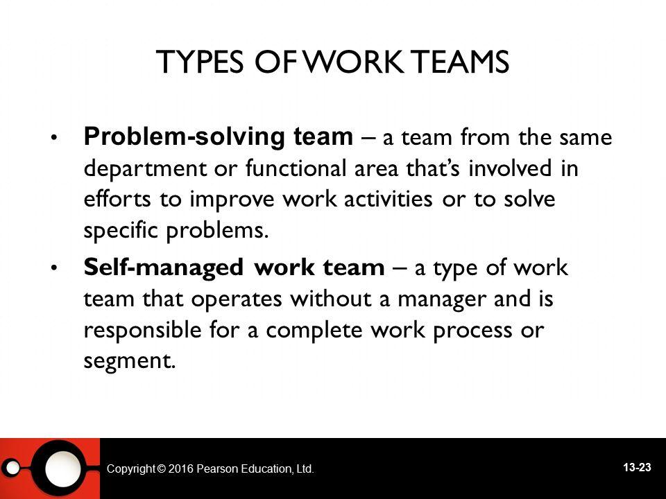 Types of Work Teams