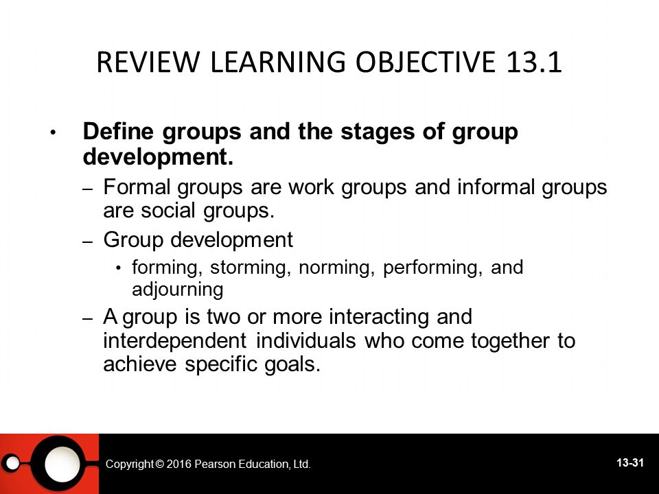 Review Learning objective 13.1