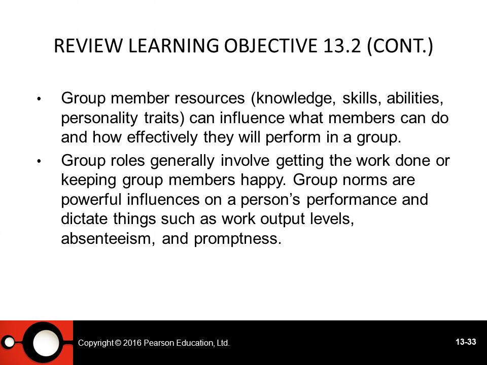 Review Learning objective 13.2 (cont.)