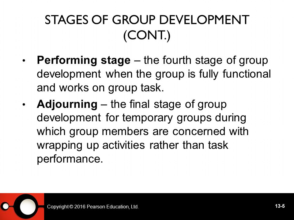 Stages of Group Development (cont.)