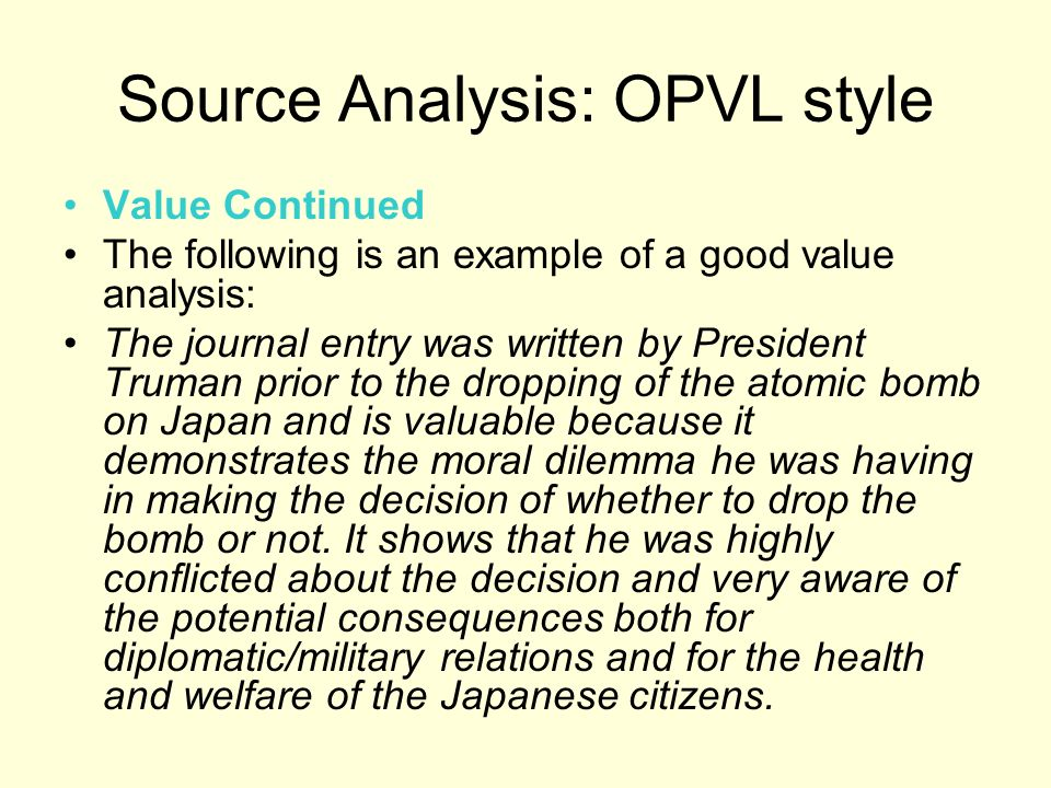 An introduction to the analysis of an atomic bomb