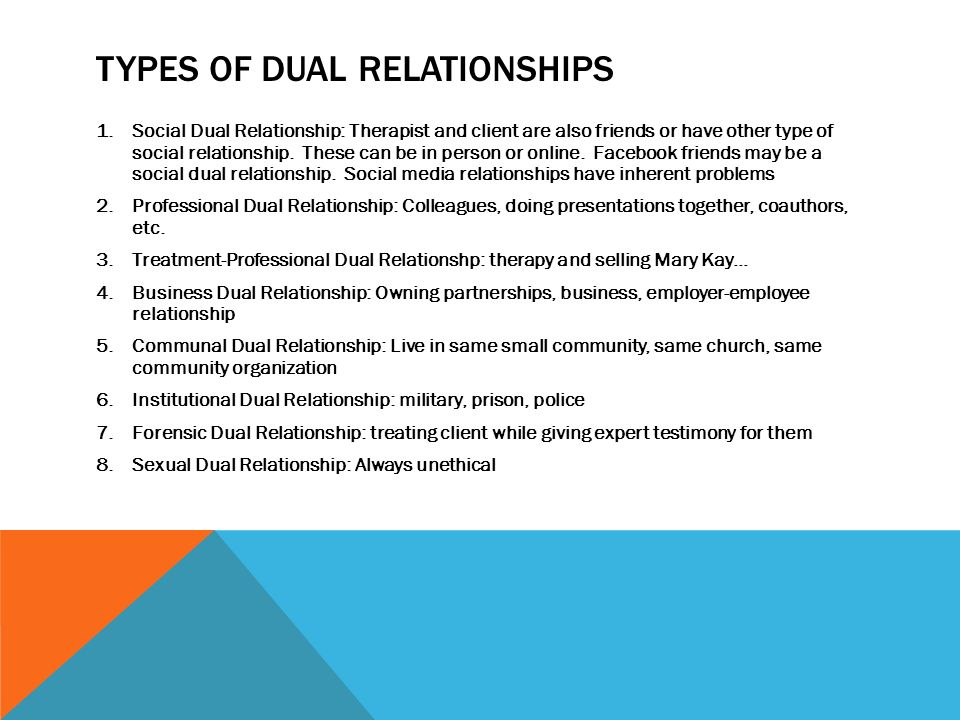 Dual relationships and boundary issues in professional psychology