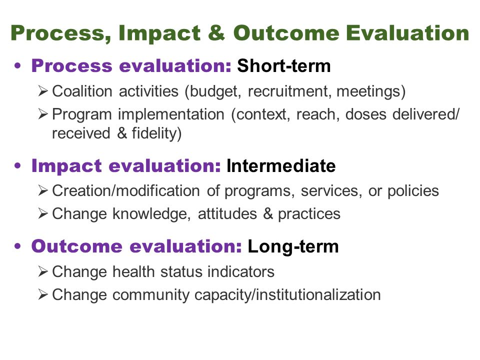 health evaluation outcome Health assessment: chapter 1, evidence based assessment jarvis assessment, 2) diagnosis, 3) outcome it describes current and past health state and forms a.