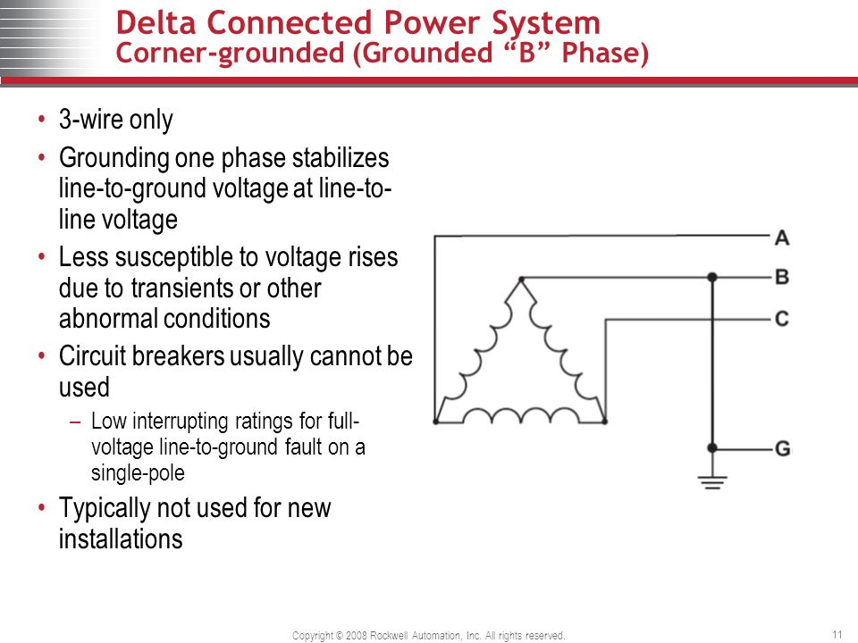 grounded b phase system wiring diagrams