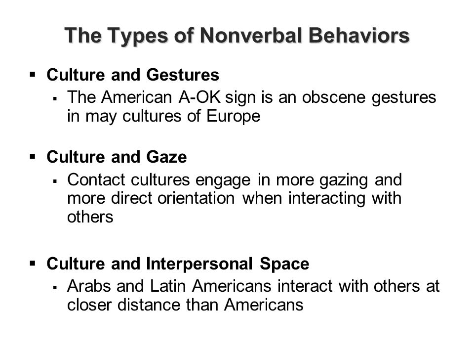 language nonverbal codes and cultural space Learn more about specific types of non-verbal communication and, in particular,  those relating to body movement, including body language, posture and  proximity  some emblems are internationally recognised, others may need to  be interpreted in their cultural context  the study of personal space is called  proxemics.